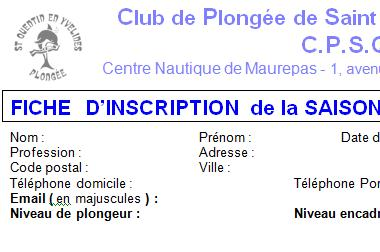 INSCRIPTION 2014-2015 !!